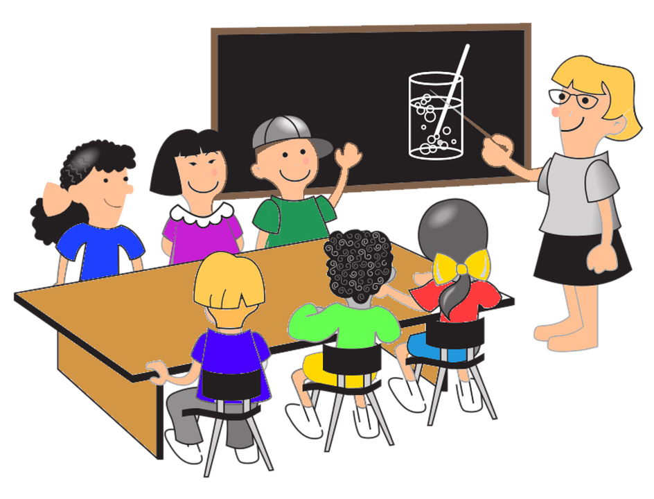 Картинки с учителем и детьми нарисованные