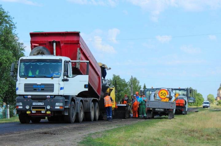 Большой ремонт лопатинских дорог