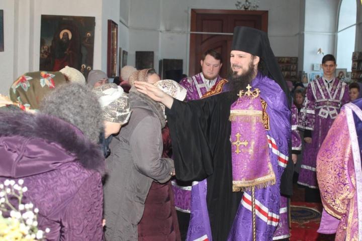 Архиерейское богослужение в лопатинском храме