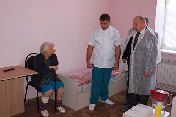 открытие дома для пожилых