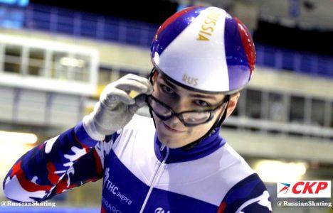 Айрапетян— пятый вэстафете наэтапе Кубка мира пошорт-треку