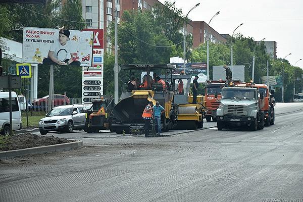 ВПензе дорогу наулице Советской зальют литой асфальтобетонной смесью