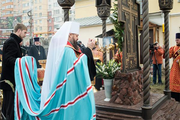 ВПензе открыли памятник-часовню святым Царственным Страстотерпцам