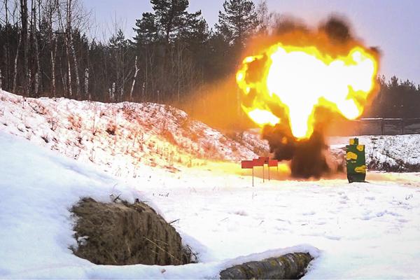 Пензенские росгвардейцы уничтожили изъятые боеприпасы